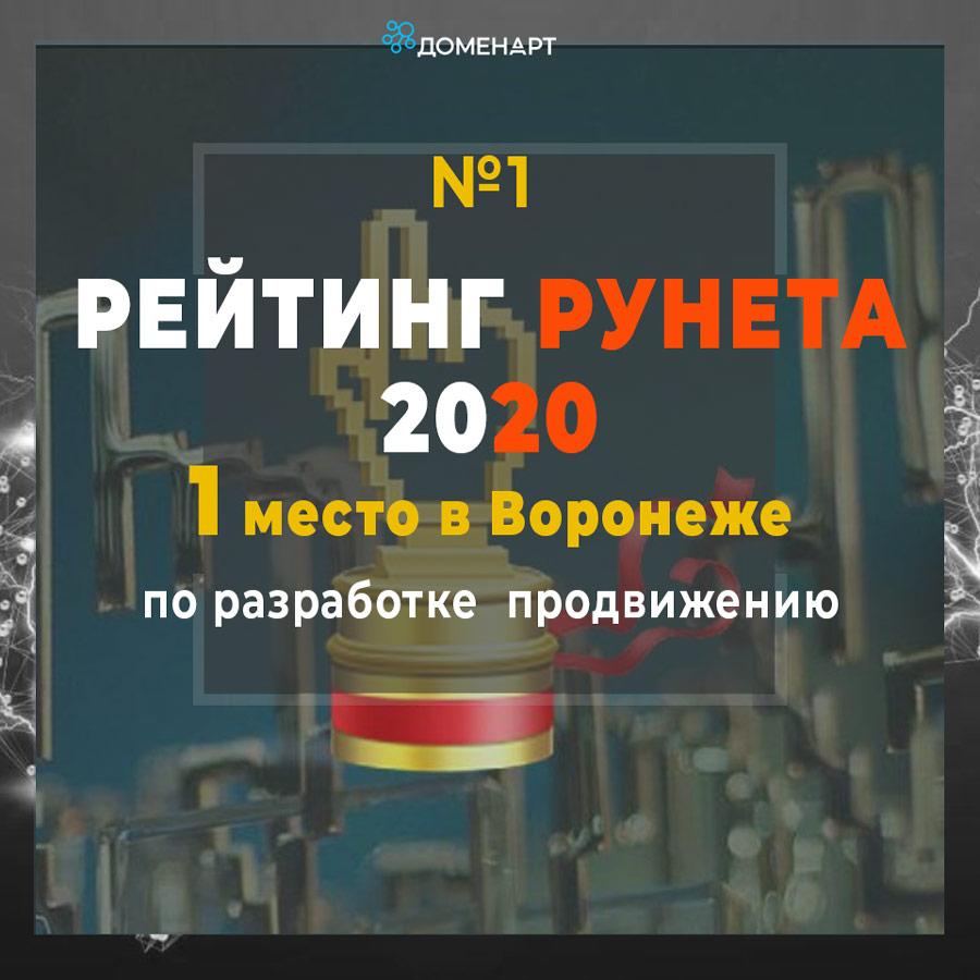 Первое место в Рейтинге Рунета 2020