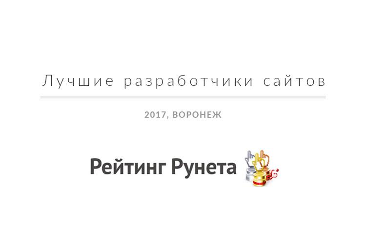 Лучшие разработчики сайтов в Воронеже 2017