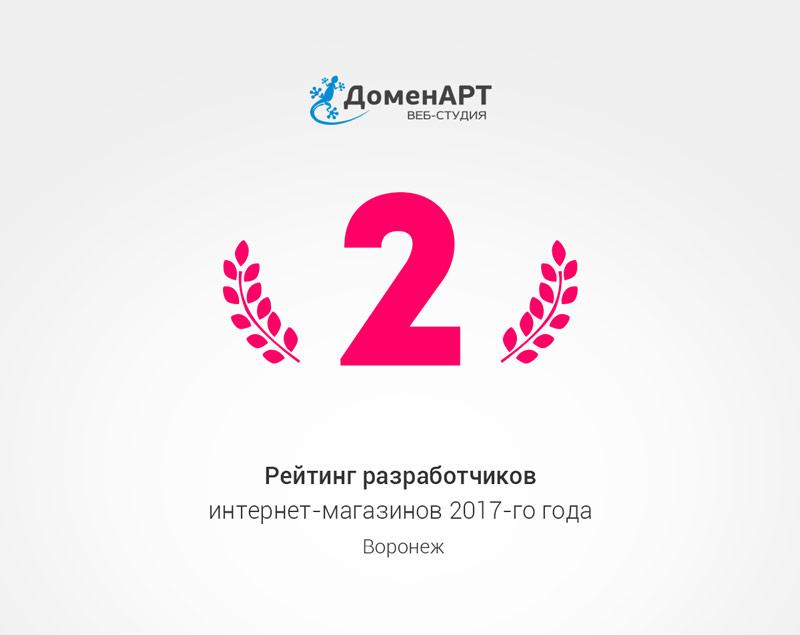 Рейтинг разработчиков интернет-магазинов 2017 года в Воронеже