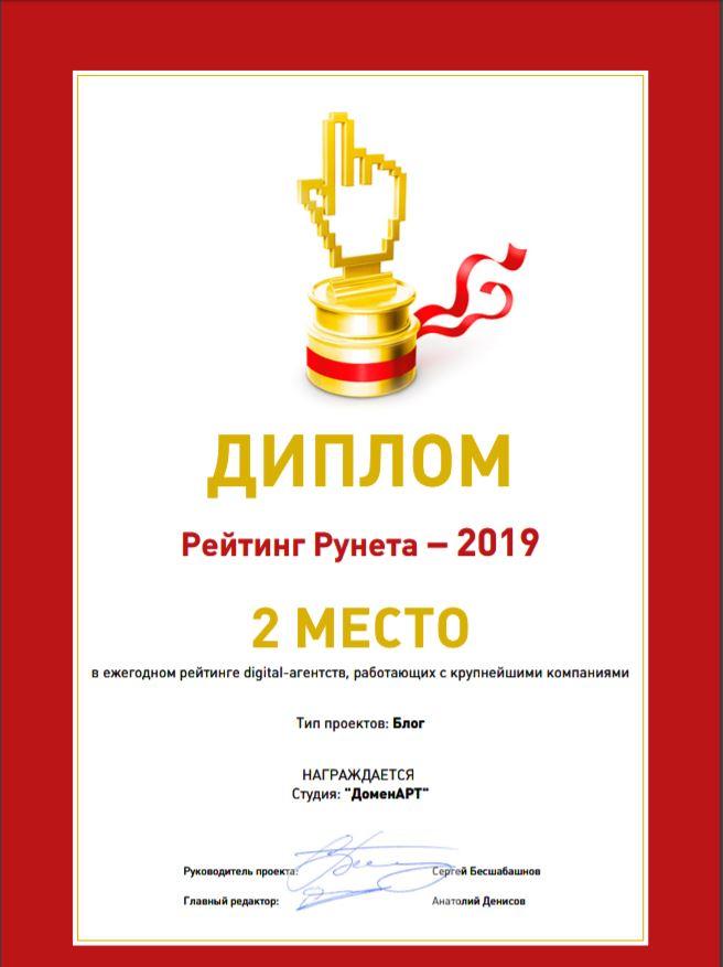 Рейтинг Рунета 2019